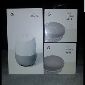 Google home and two minis